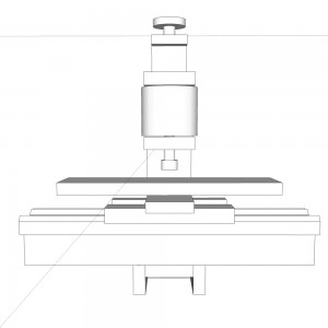 Front view of milling attachment.
