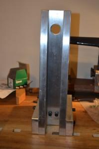Rear view of assembled column.