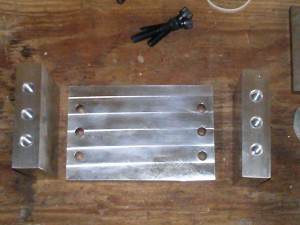 Milling head components milled and ready for assembly.