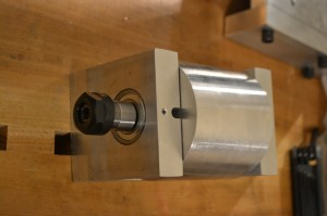 Milling head, assembled - bottom view.