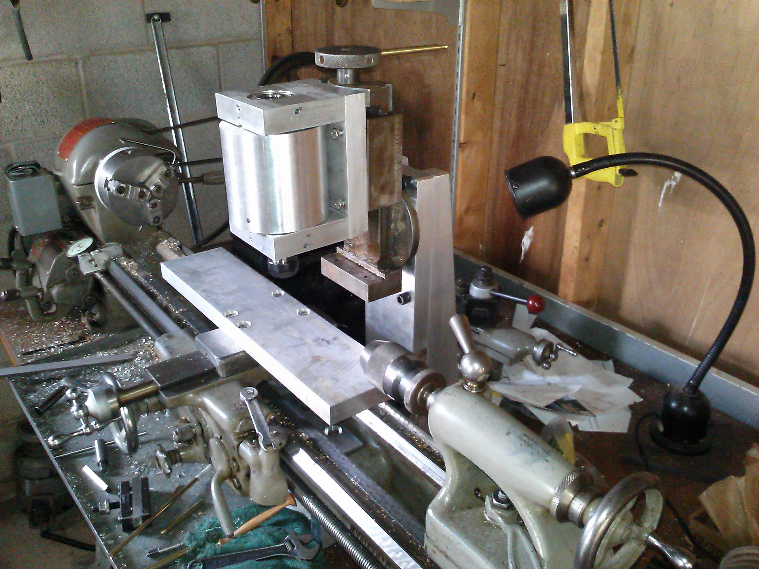 Milling Table Attached To Cross Slide