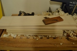All parts surface planed, sides rabbeted.