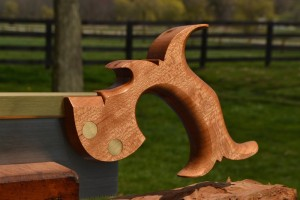 An exceptional piece of quartersawn cherry, sent to me by a customer.