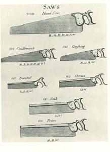 Smith's Key excerpt, showing various patterns of saws.
