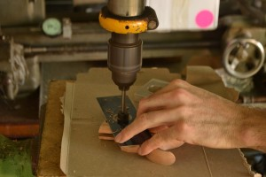 Counterboring for the shank of the split nut.