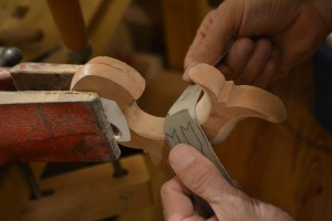 Sanding the inside curve is about the same as the outside.