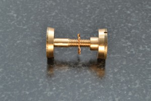 Side view of the bolts and split nuts that I make and use.