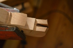 The beginnings of the mortise.