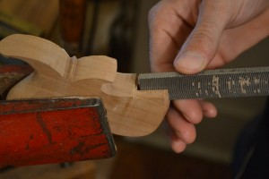 A Vixen file can be used to widen the mortise if needed.  At times, I also use a chisel to do this.