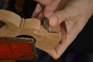Extend the back of the mortise to align with the step.