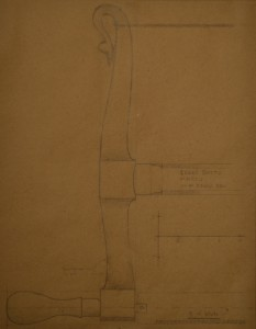 Sketch of the arm and stretcher.