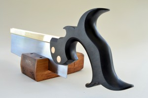 Ten inch dovetail saw, Gabon ebony, bronze back and bolts.