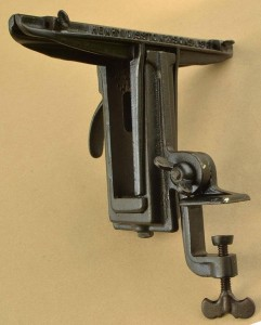 Back side of Disston 3D (sometimes called D3) saw vise.