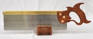 Twelve inch carcase saw. Thuya burl handle.