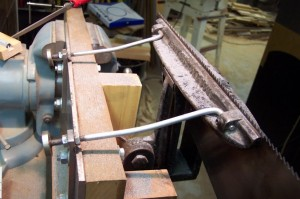 Another one of Marv's Disston D3 vise mounting modifications, side view.