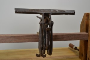 Stearns No. 33 adjustable saw vise, front view.