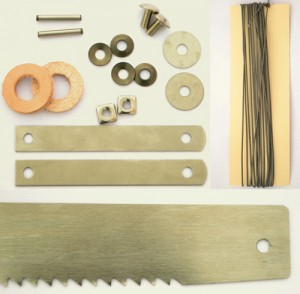 Danish frame saw blade and hardware kit.